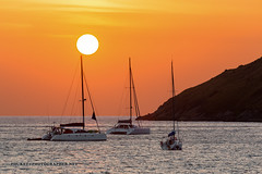 Sunset with yacht and catamaran. Phuket               AD4A5561s