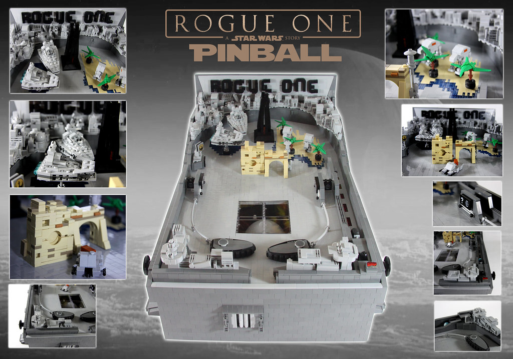 Rogue One Pinball Machine (custom built Lego model)
