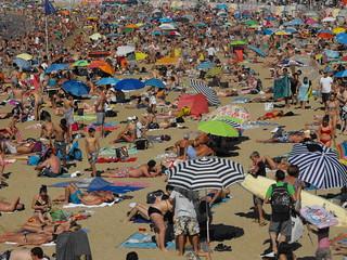 "Playa en Biarritz, Francia"""