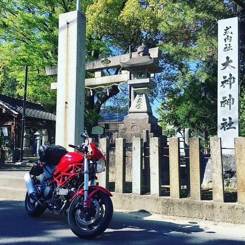 ドゥカたんに乗って、尾張一宮大神神社にもお参りに〜 #japanese #japanesesky #sky #shintoshrine #ducati #ducatimonster