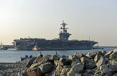 USS Carl Vinson (CVN 70) arrives in Busan, March 15. (U.S. Navy/MC2 Jermaine M. Ralliford)