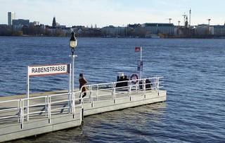 Hamburg, Außenalster Bootsanleger