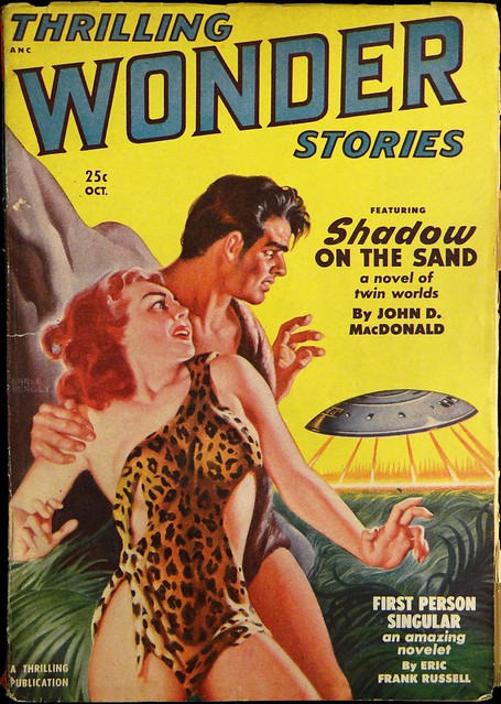 Thrilling Wonder Stories Vol. 37, No. 1 (Oct., 1950). Cover Art by Earle Bergey