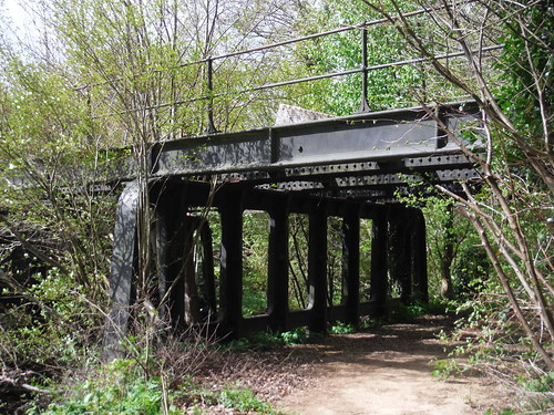 Metal Frame of Old Railway Bridge (Uckfield - Lewes line, by Dingley Dell Terminal)