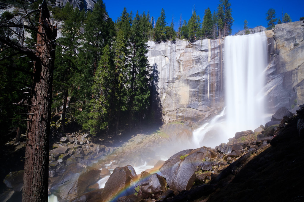 Yosemite Vernal Falls and Mist Trail