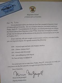 Hogwarts Acceptance Letter 2