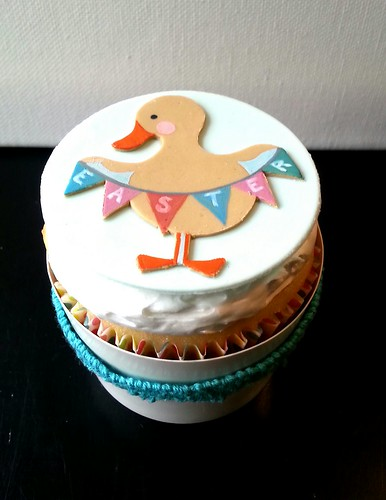 Easter Duck Cupcake