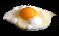 produce(0.0), breakfast(1.0), egg(1.0), food(1.0), dish(1.0), egg yolk(1.0), fried egg(1.0),