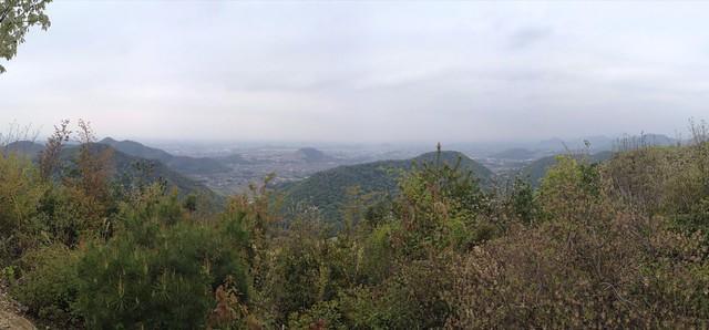 各務原アルプス 大岩見晴台 各務原方面の眺望
