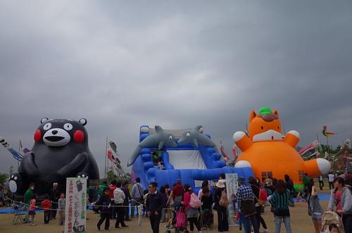Kumamon, Gunma-chan, dolphin