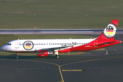 Air Berlin: felszállt a Fan Force One