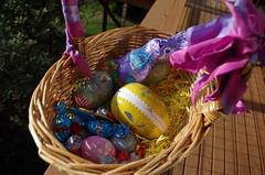 flower, purple, easter egg, easter,