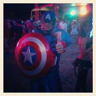 Dress like a superhero - This is one of my friends as Captain America! #d39 #flickd14 #inf115