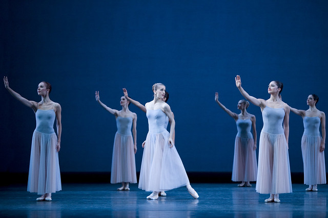 Samantha Raine, Marianela Nuñez, Romany Pajdak and artists of The Royal Ballet in Serenade, The Royal Ballet © Johan Persson