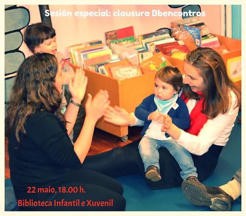 Clausura bbencontros na biblioteca infantil e xuvenil