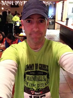 Me with my new race shirt.