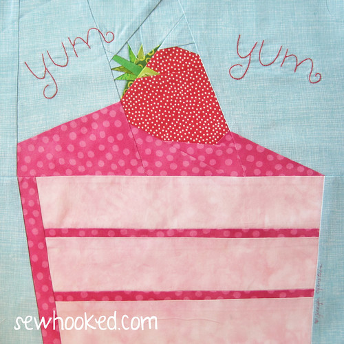 Strawberry Yum Yum, by Jennifer Ofenstein block