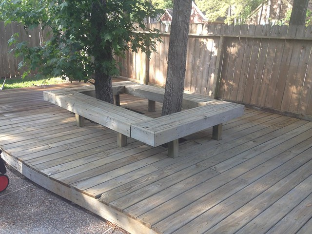 clean deck, ready for stain