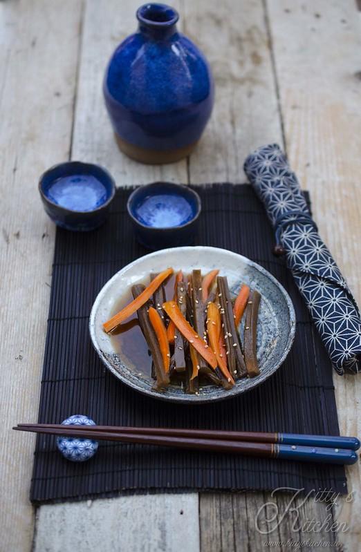 Kinpira gobo e carote
