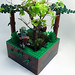 Geeky Flower Pots: Endor - back view by killarkai