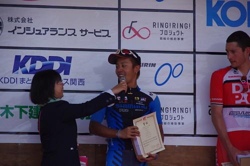 シマノレーシングチームの吉田隼人選手が3位