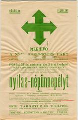 II/17. Nyilas plakát 1939-ből