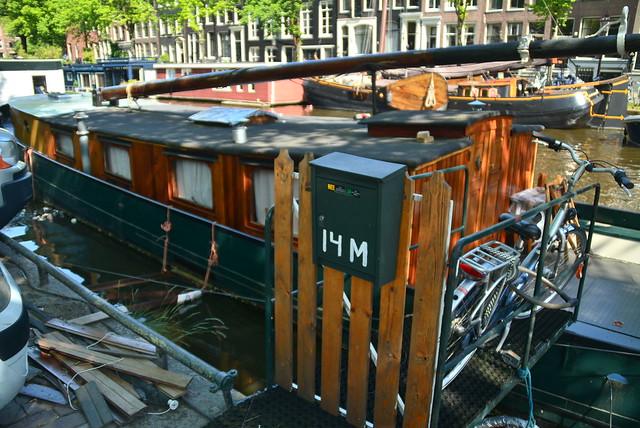 Casa flotante en Amsterdam