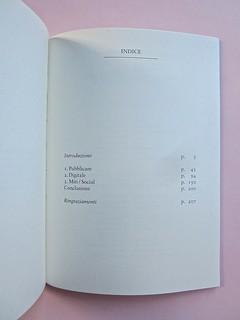 Come finisce il libro, di Alessandro Gazoia (Jumpinschark). minimum fax 2014. Progetto grafico di Riccardo Falcinelli. Pagina dell'indice: a pag. 209 (part.), 1
