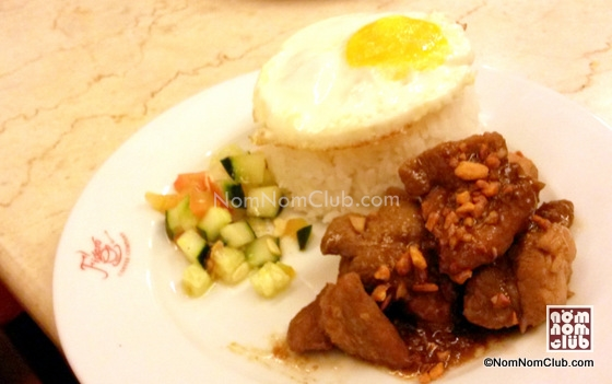 Traditional Adobo Rice Meal