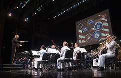 In this file photo, musicians from the various military services perform together during the 2014 combined military concert at the Hawaii Theatre Center. (U.S. Navy/MC3 Johans Chavarro)