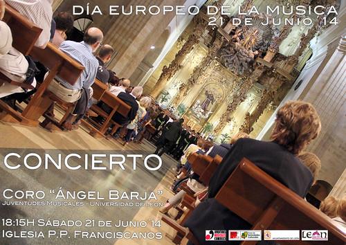 DÍA EUROPEO DE LA MÚSICA - CONCIERTO DEL CORO ÁNGEL BARJA JJMM-ULE - 21.06.14