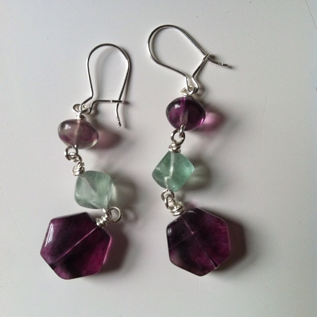 Awesome earrings made by my mom! I could get used to this new hobby.