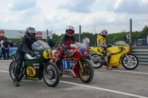 Patrice Coupard (Seeley-Matchless 500 1971_B137) & Gérard Monthubert (Bimota 350 1979_B96, ex-Mamola & Saul)