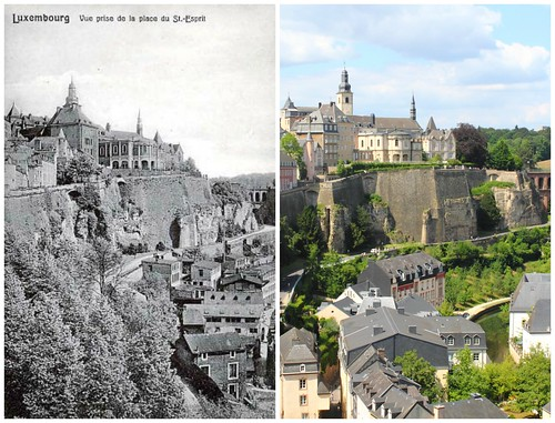 Luxembourg, then and now