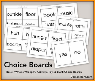 Free Choice boards (infant stimulation program)