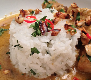 Sticky Jasmine Rice : Served with Penang Curry