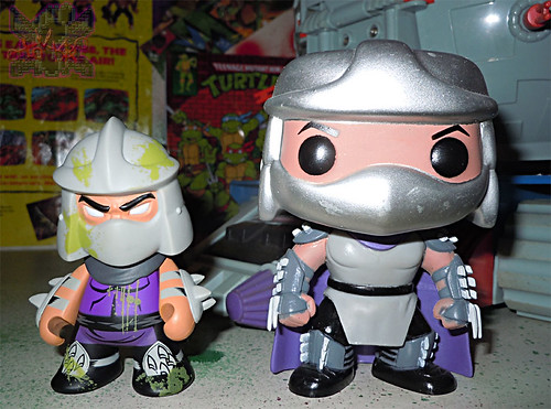 "Kidrobot :: ""TEENAGE MUTANT NINJA TURTLES"" - 'OOZE ACTION' GLOW IN THE DARK SHREDDER x // ..with POP VINYL SHREDDER '13 (( 2014 ))"