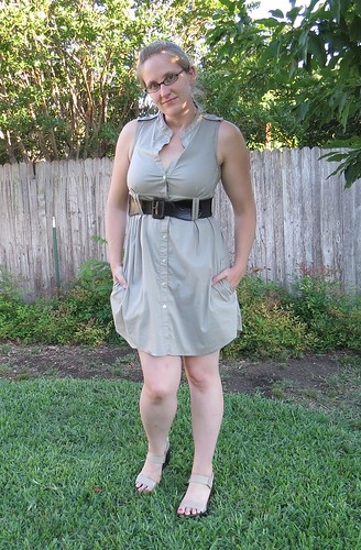 Khaki Shirt Dress