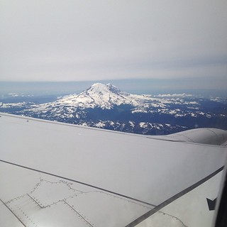 Well, hello again, Mount Rainier. #homesweethome #nofilter