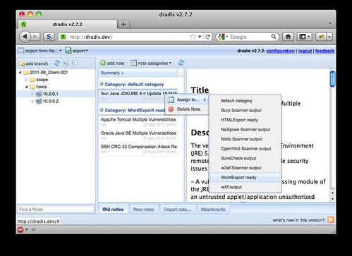 Dradis v2.9 - Information Sharing For Security Assessments