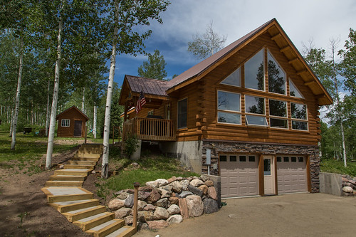 Steamboat Lake cabin for sale, mountain home, north Routt