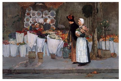 002  En la floristería- 1889- Pintura al oleo- Childen Hassam