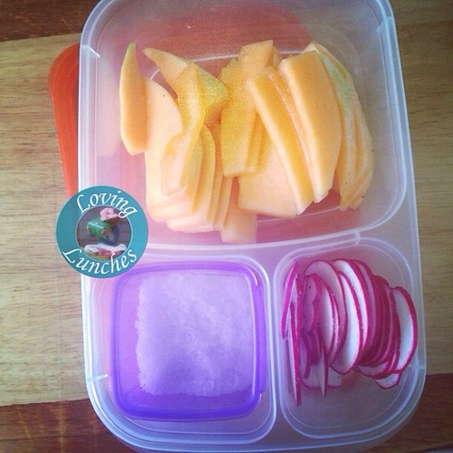 Loving our @easylunchboxes mothers group bring a plate today… rockmelon fingers and radishes with seasalt
