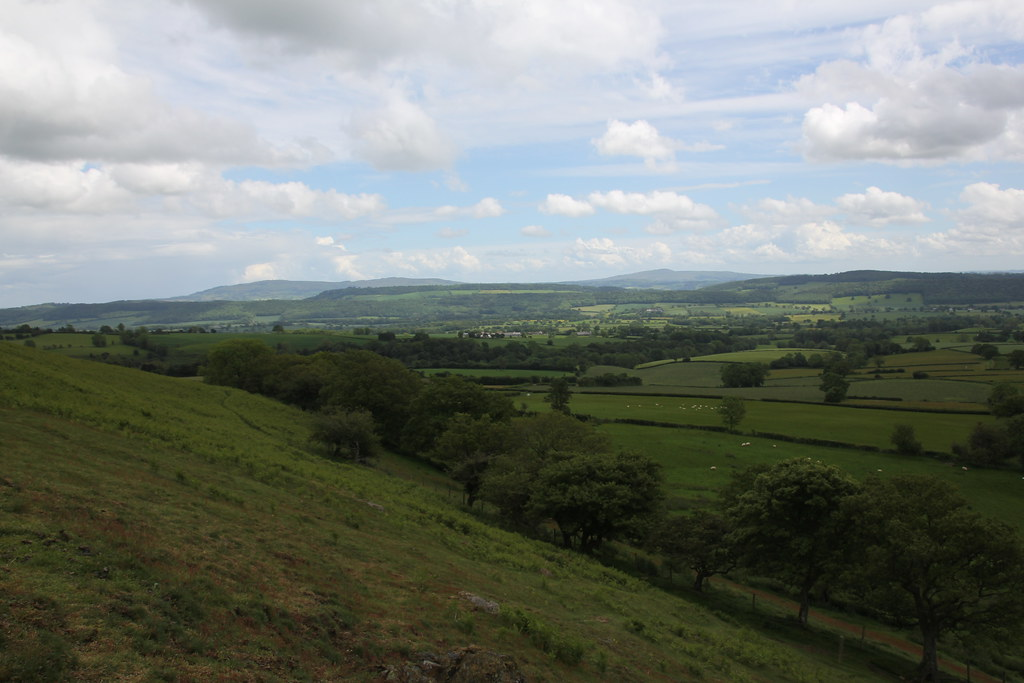 Shropshire, Church Stretton, Cardingmill Valley, Long Mynd, Ashes Hollow, Little Stretton, Ragleth Hill, Hazler Hill, Hope Bowdler Hill, Caer Caradoc Hill