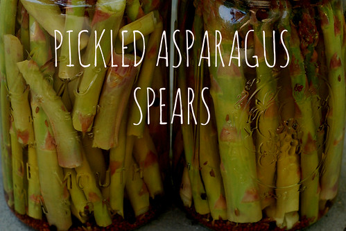 pickled asparagus spears by Eve Fox, the Garden of Eating blog, copyright 2014