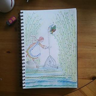 Aaaaand... done ! #illustration #stepbystep #sketchbook