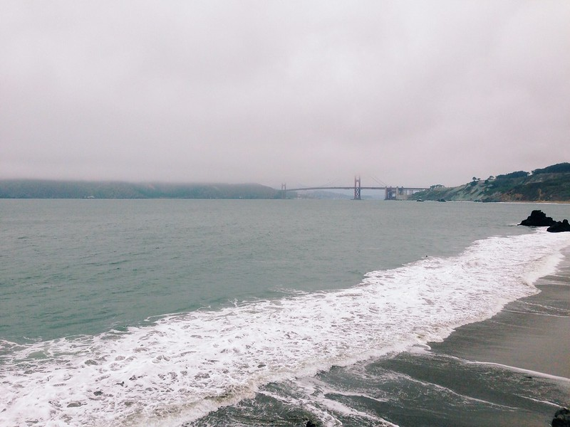 View of the Golden Gate Bridge from China Beach.