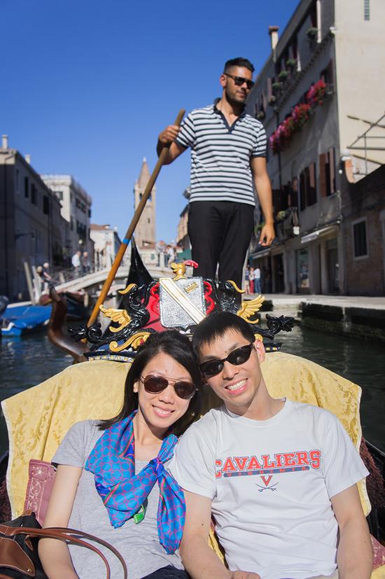 gondola ride with Sebastiano, our gondolier