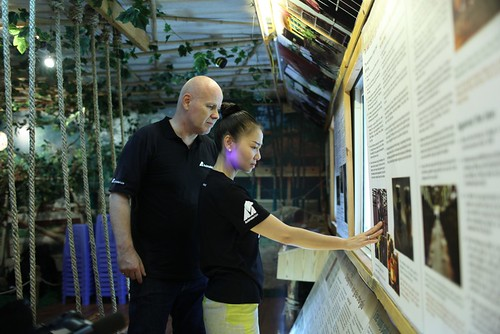 Thu Minh in the education centre