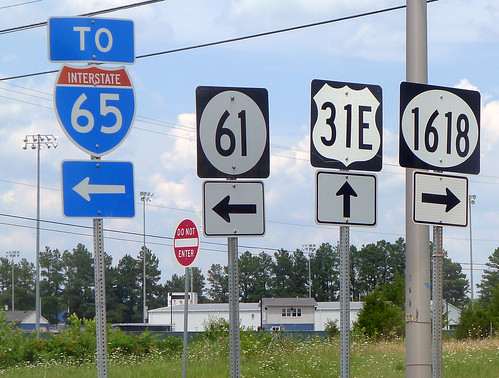 To I-65 or 61 or US 31E or 1618